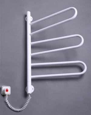 Электрический полотенцесушитель Флюгер-3 поворотный (белый)