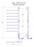 Электрический полотенцесушитель Веер -I 1000х445 TR таймер-регулятор