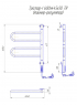 Электрический полотенцесушитель Тристар -I 600х445 TR таймер-регулятор