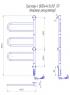 Электрический полотенцесушитель Тристар -I 800х445 TR таймер-регулятор