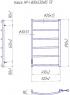 Электрический полотенцесушитель Классик HP -I 800x530 TR таймер-регулятор
