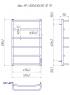 Электрический полотенцесушитель Люкс HP -I 800x530 TR таймер-регулятор