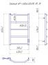 Электрический полотенцесушитель Трапеция HP -I 650x430 TR таймер-регулятор