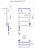 Электрический полотенцесушитель Hotel -I 650х430 TR таймер-регулятор