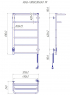 Электрический полотенцесушитель Hotel -I 800х530 TR таймер-регулятор