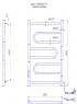 Электрический полотенцесушитель Атлас -I 700x500 TR таймер-регулятор