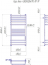 Электрический полотенцесушитель Гера-Люкс-I 800x500/170 TR таймер-регулятор