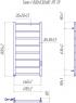 Электрический полотенцесушитель Токио-I 800x500/80 TR таймер-регулятор