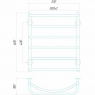Аквамикс П6 500x600 ЧФ левое подключение (черный) Электрический полотенцесушитель