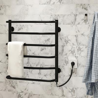 Аквамикс П6 500x600 ЧФ правое подключение (черный) Электрический полотенцесушитель