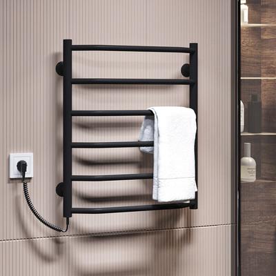 Трапеция П6 500x600 ЧФ левое подключение (черный) Электрический полотенцесушитель