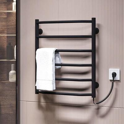 Трапеция П6 500x600 ЧФ правое подключение (черный) Электрический полотенцесушитель
