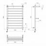 Terma Plus П10 500х800 Э правое подключение Электрический полотенцесушитель