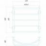 Аквамикс П5 400x500 Э правое подключение Электрический полотенцесушитель