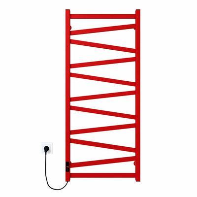 Alpha П11 500х1200 Э правое подключение (красный) Электрический полотенцесушитель