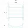 Аквамикс П6 500x700 Э левое подключение Электрический полотенцесушитель