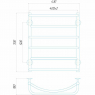 Аквамикс П6 400x700 Э левое подключение Электрический полотенцесушитель