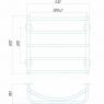 Аквамикс П5 500x500 Э левое подключение Электрический полотенцесушитель