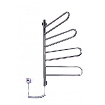 Электрический полотенцесушитель Флюгер-4 поворотный (нерж)