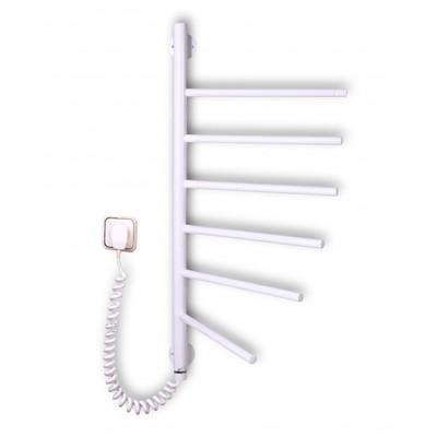 Электрический полотенцесушитель Вертикаль-6 поворотная (белая)